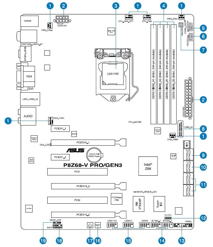 asus p8z68 v block diagram configure pc w asus p8z68 v pro gen3 motherboard  asus p8z68 v pro gen3 motherboard
