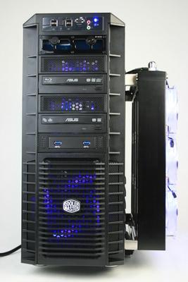Koolance CPU 380I Water Block Geforce GTX 690 Waterblock Cooler Master MegaFlow 200 Blue LED Silent Fan Dual Cold Cathode Light UV