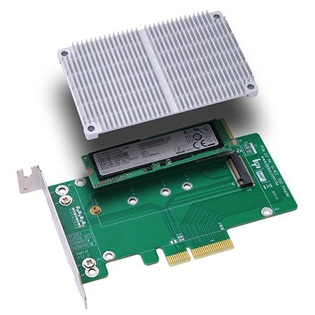 M.2 to PCI-E x4 SSD adapter w/ heatsink Main Picture