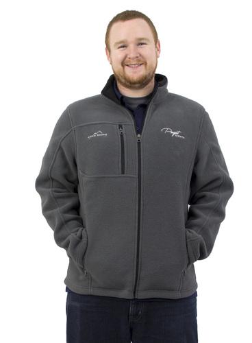 Puget Mens Grey Fleece Zip-up (XX large) Main Picture