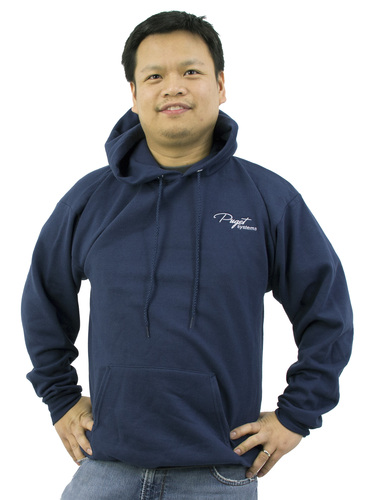 Puget Mens Navy Hooded Sweatshirt (medium) Main Picture
