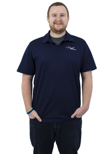 Puget Mens Navy Polo (medium) Main Picture