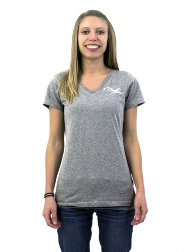 Puget Womens Grey V-Neck T-Shirt (XXXX large) Main Picture
