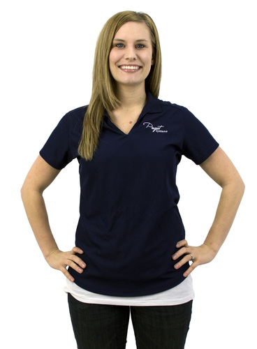 Puget Womens Navy Polo (medium) Main Picture