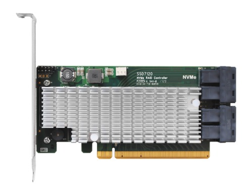 HighPoint SSD7120 Quad U.2 RAID Card Main Picture