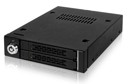 IcyDock 2 x 2.5inch to 3.5inch Removable Hard Drive Kit Main Picture