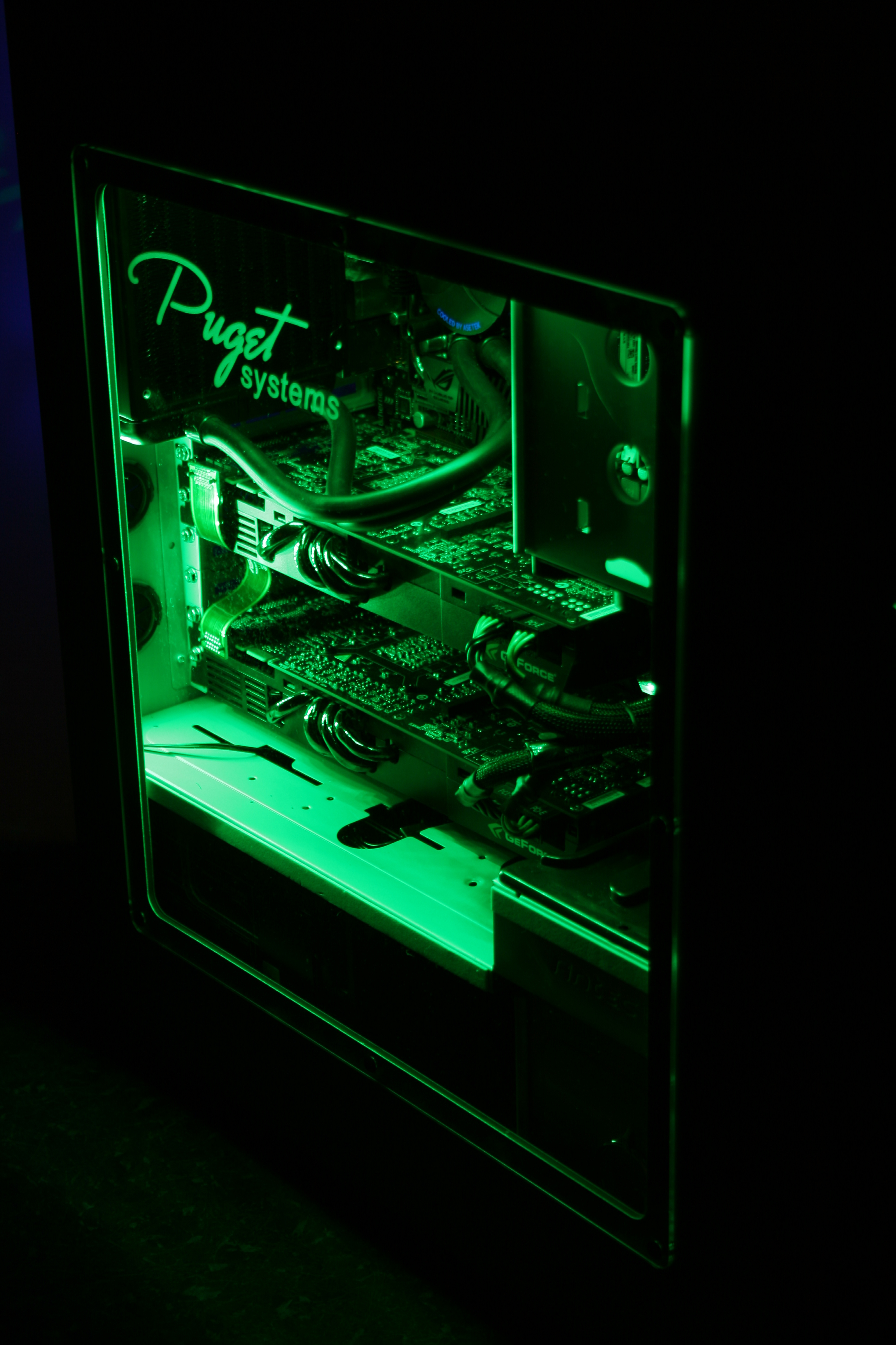 computer basspulse dual desktop with works lrg stereo led glow gg callouts lights drivers system computers itm lighting glowing green gogroove pc apple sound speakers speaker laptop
