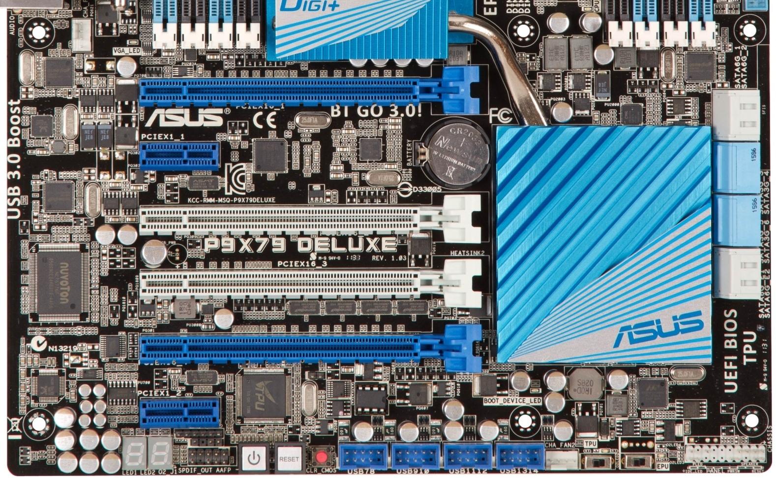 Asus P9X79 Deluxe PCI/PCI-E Slots