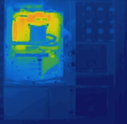 Asus P9X79 Deluxe Thermal Image