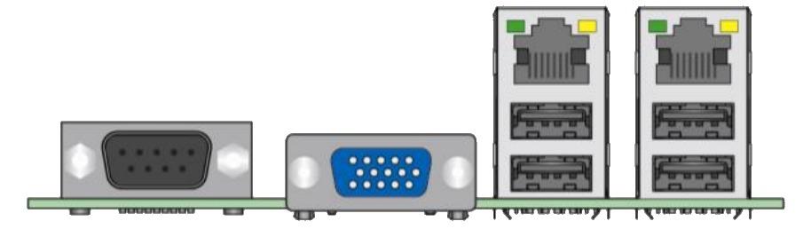 Intel S1200BTS rear I/O