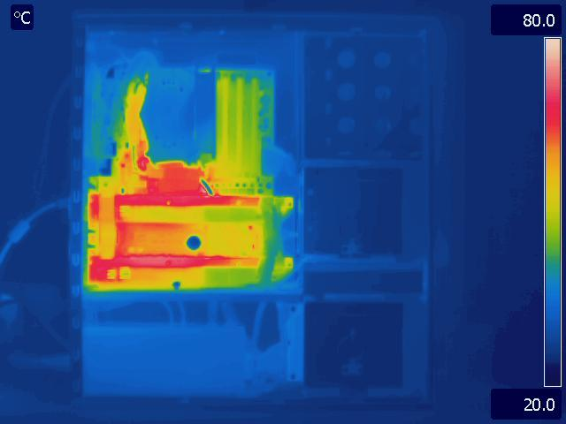 Antec P183 V3 Load Thermal Image