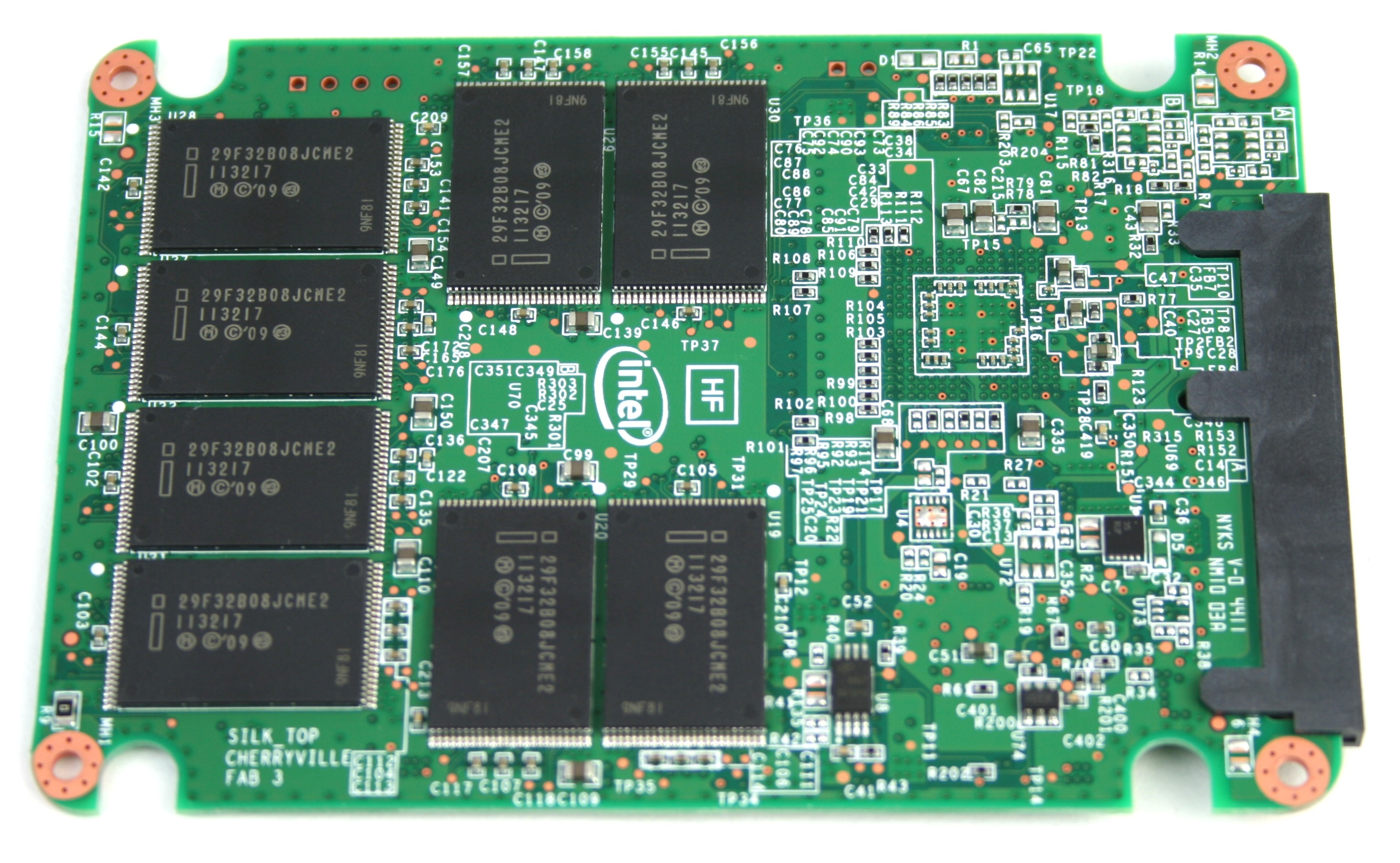 Intel 520 SSD Cherryville PCB Bottom