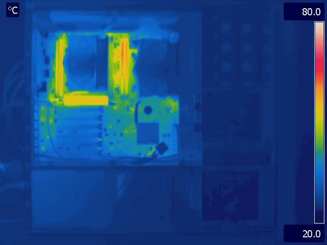 Asus Z9PE-D8 WS Load Thermal Image