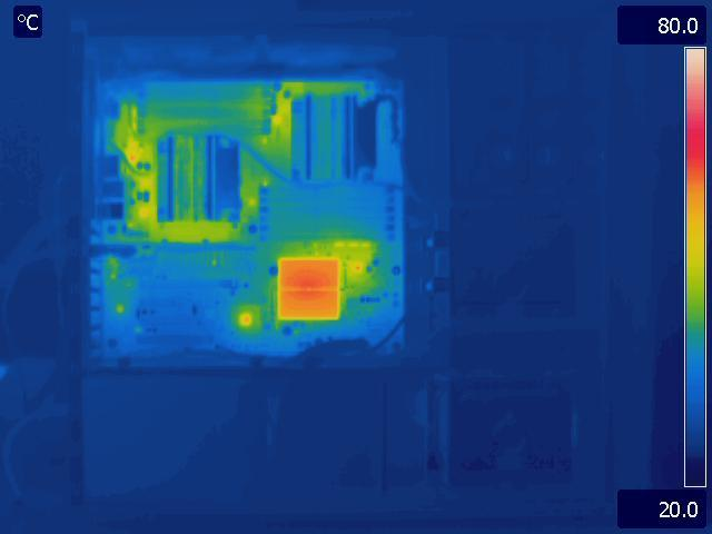 Intel S5520 Load Thermal Image