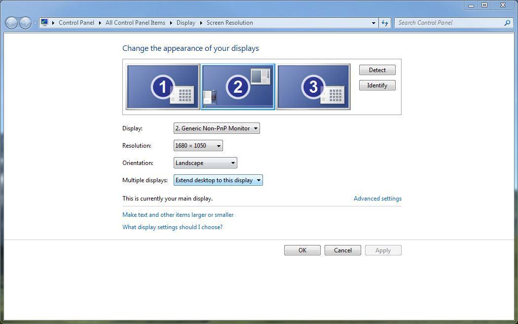 Windows 7 Monitor Management