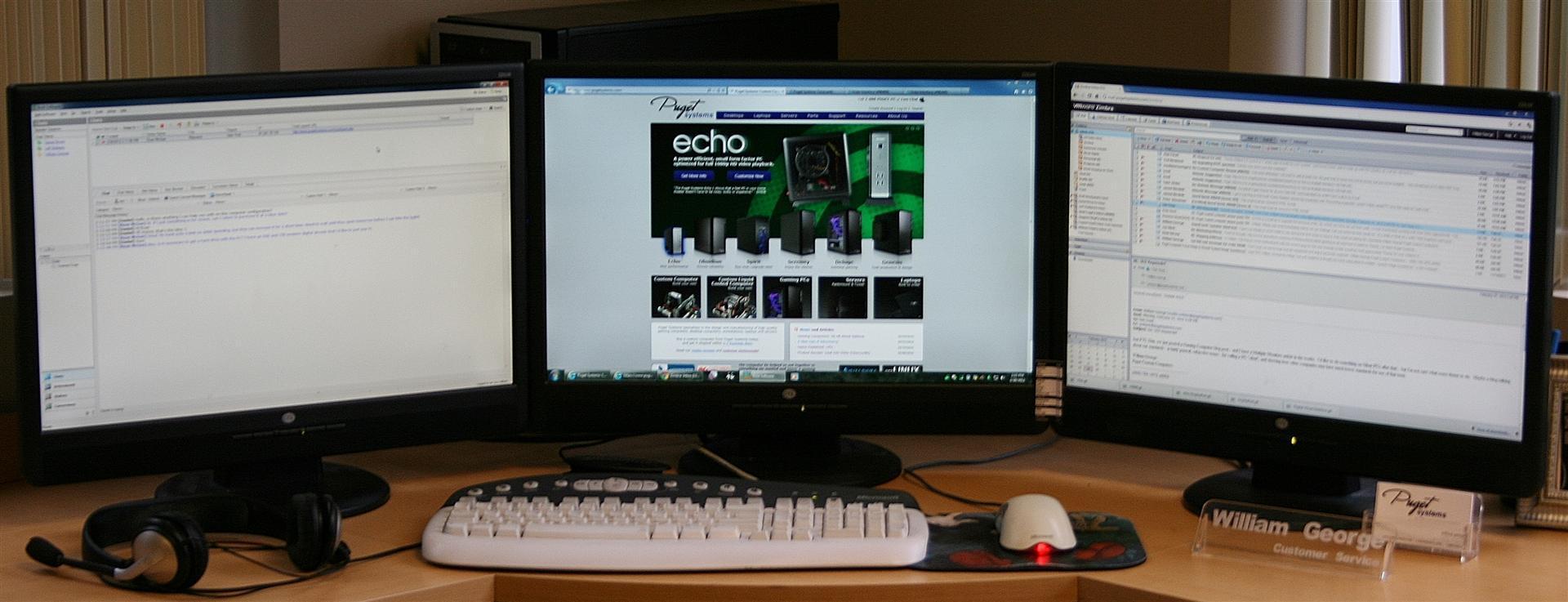Author's Triple Monitor Desktop
