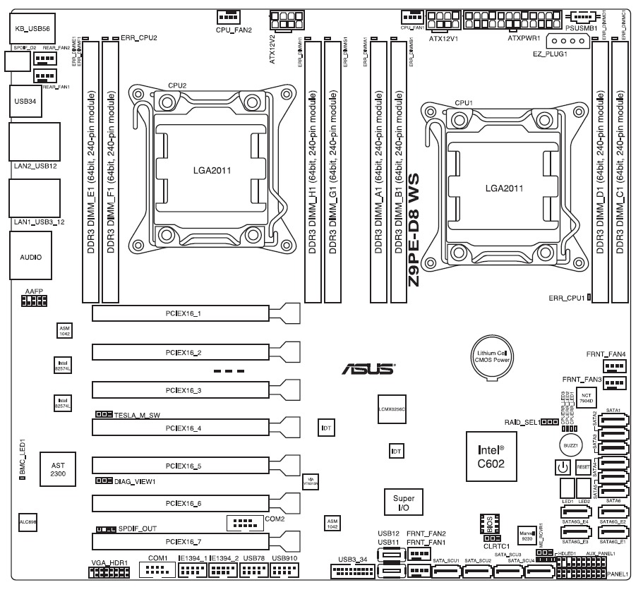 Asus Z9PE-D8 WS Schematic