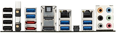 Asus P8Z77-V Deluxe IO Ports