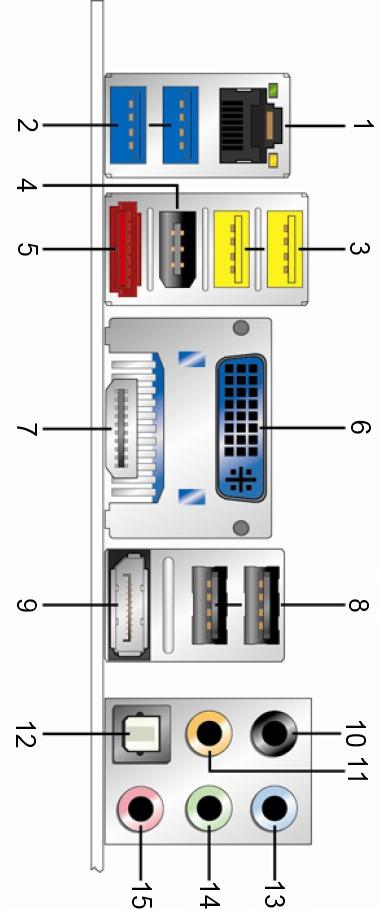 Intel DH77DF Rear IO Ports