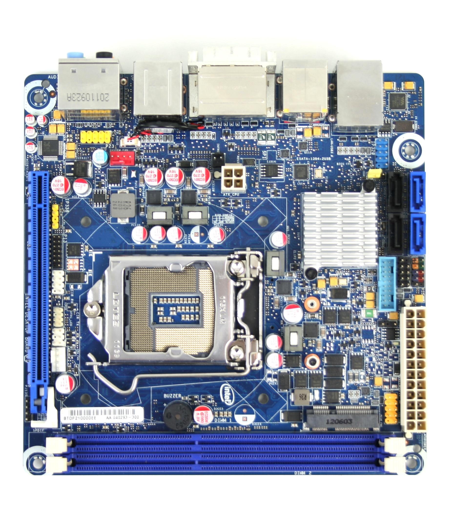 Intel DH77DF Top View