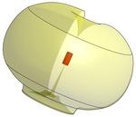 Wireless Antenna radiation pattern 3d model side