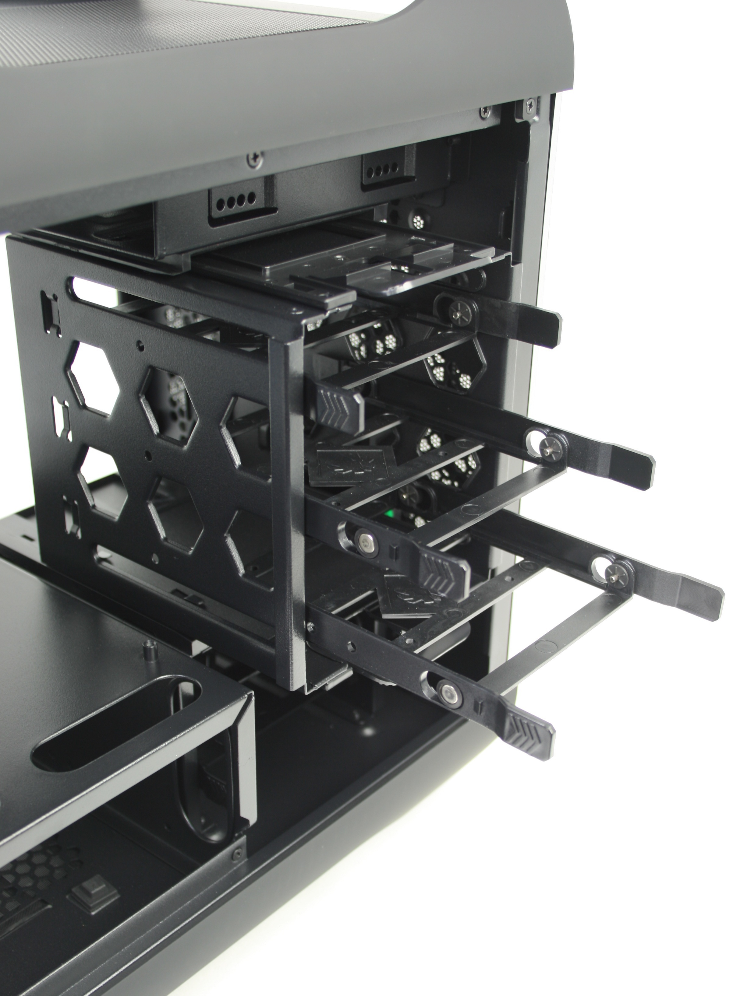 BitFenix Prodigy 3.5 inch Drive Cage Tray Removed