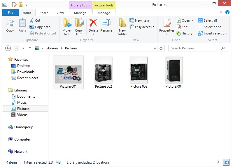 Windows 8 Explorer Ribbon UI general