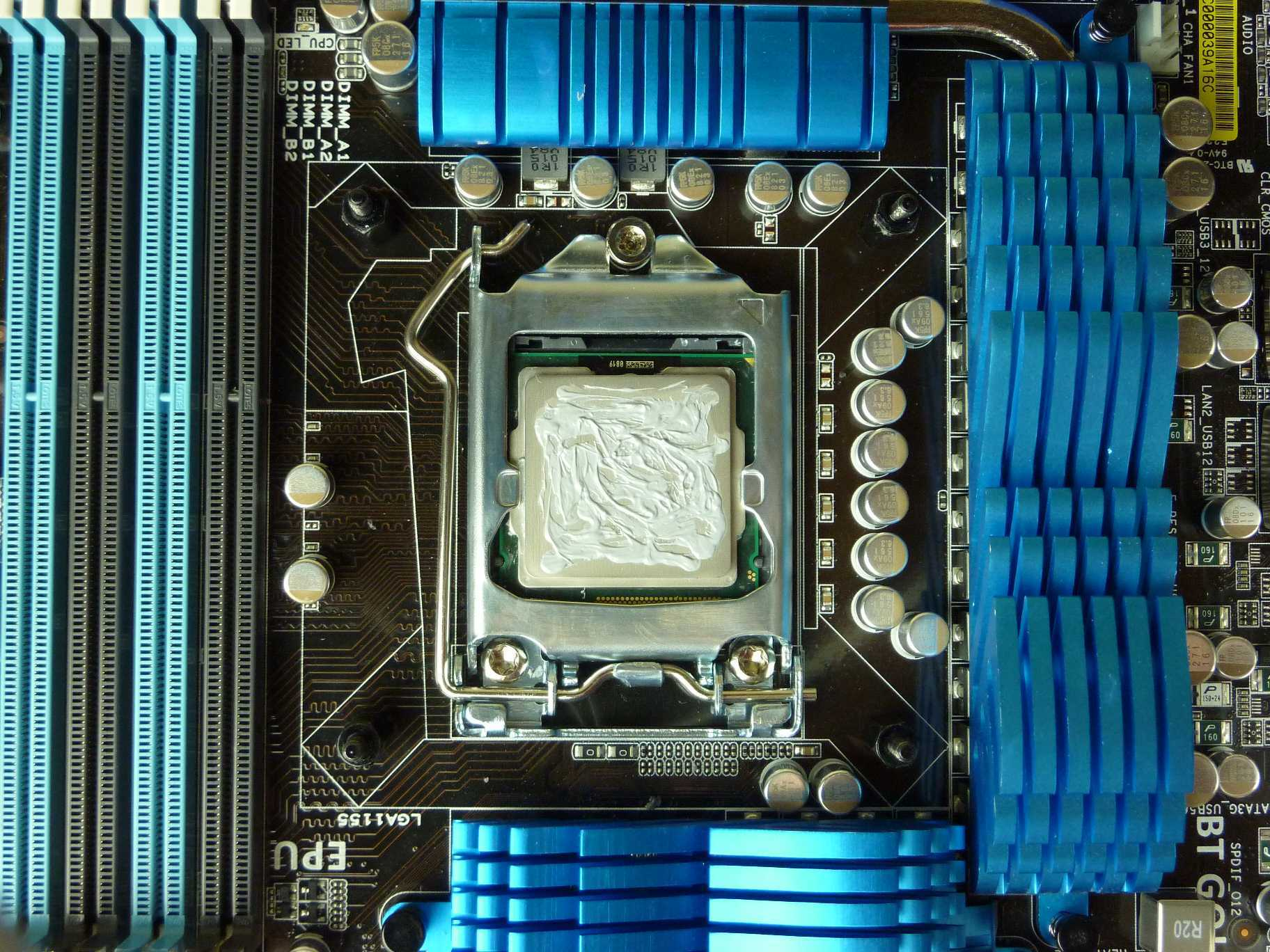 Thermal Paste rough spread