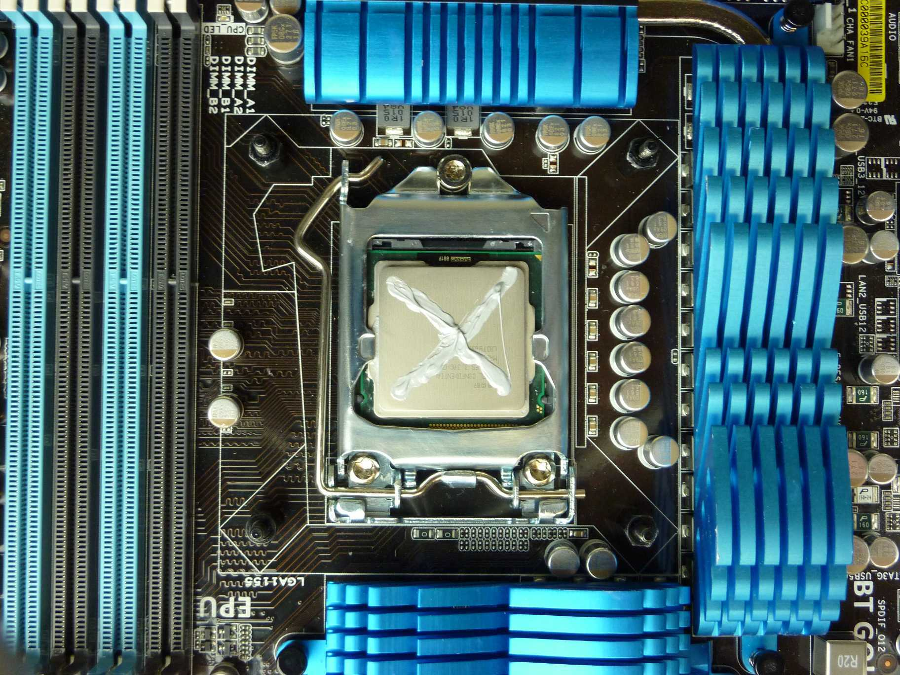 Thermal Paste X shape