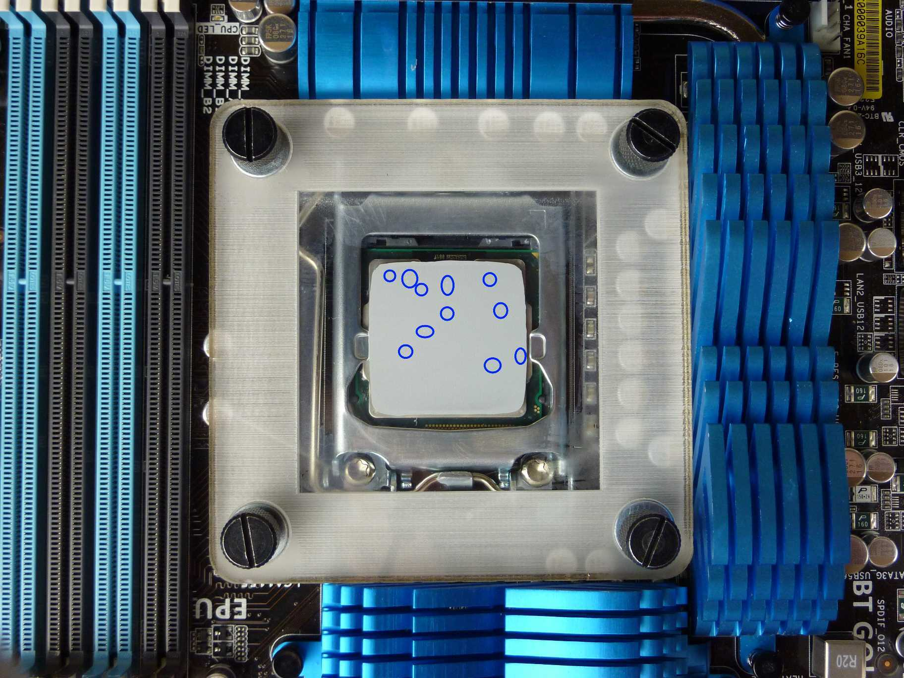 Thermal Paste Spread - Rough Spread