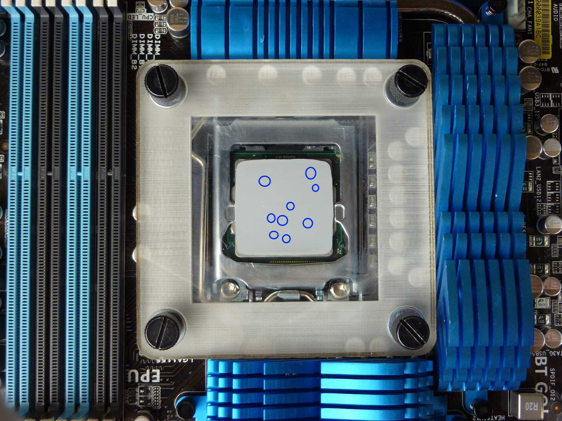 Thermal Paste Spread - Smooth spread
