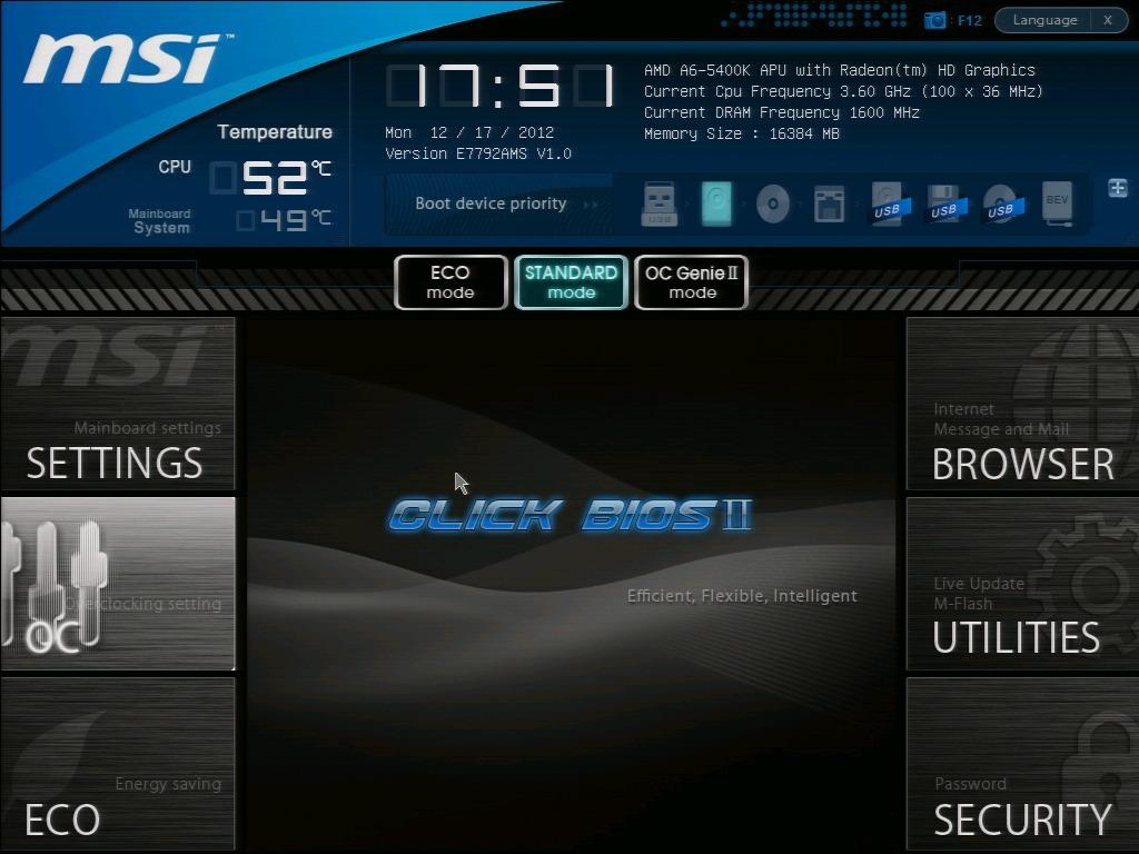 MSI FM2-A75IA-E53 BIOS