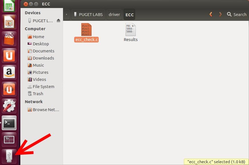 Ubuntu Open Thumbdrive