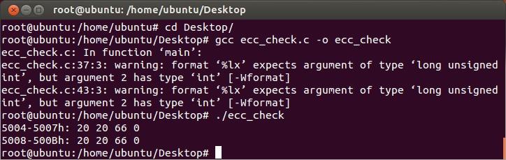 Ubuntu ecc_check.c ECC Disabled