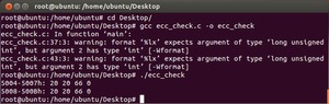 Ubuntu ecc_check.c ECC Disabled