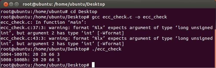 Ubuntu ecc_check.c ECC Enabled