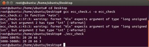 Ubuntu ecc_check.c ECC Enabled