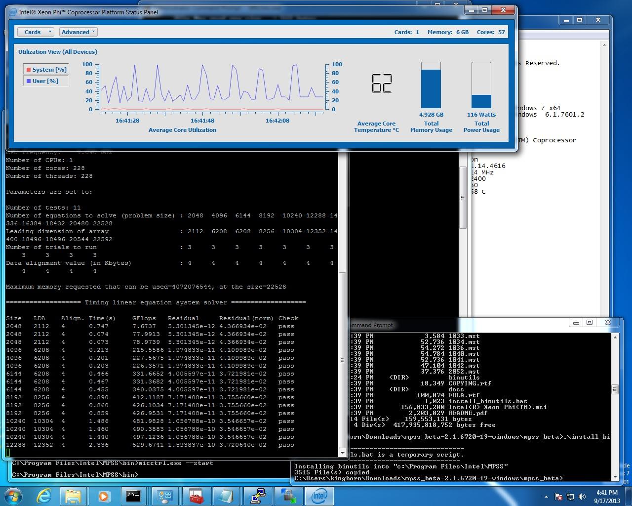 how to run linpack benchmark windows