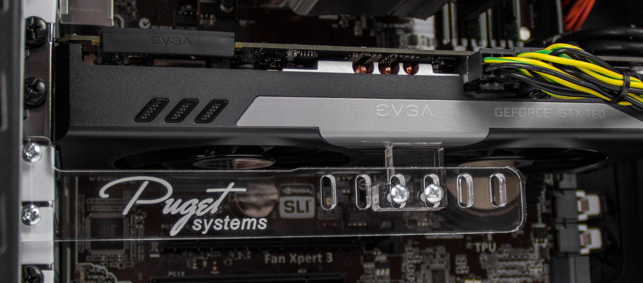 Configure Pc W Puget Systems Universal Acrylic Gpu Brace