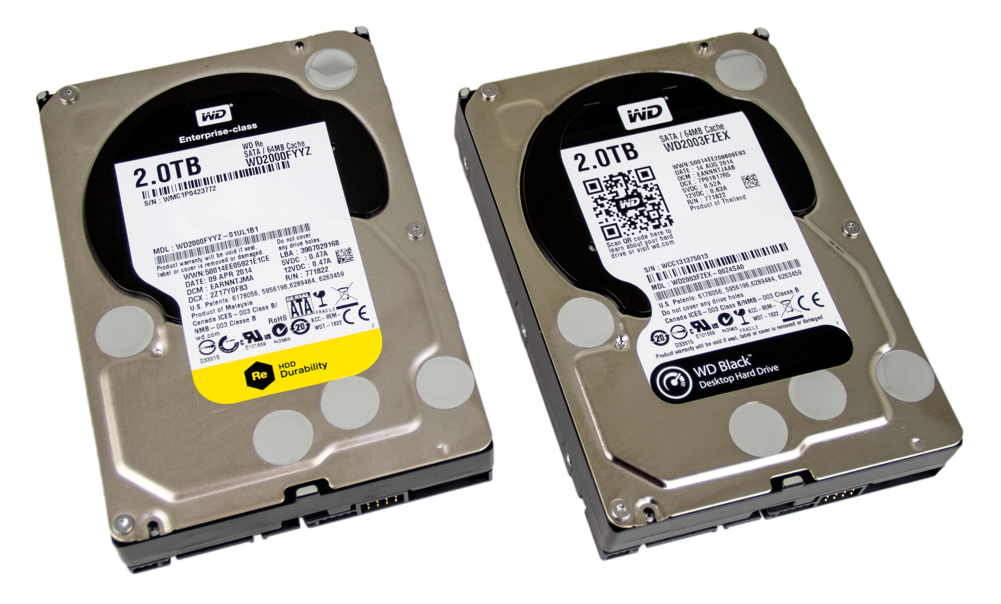 Western Digital Black and RE