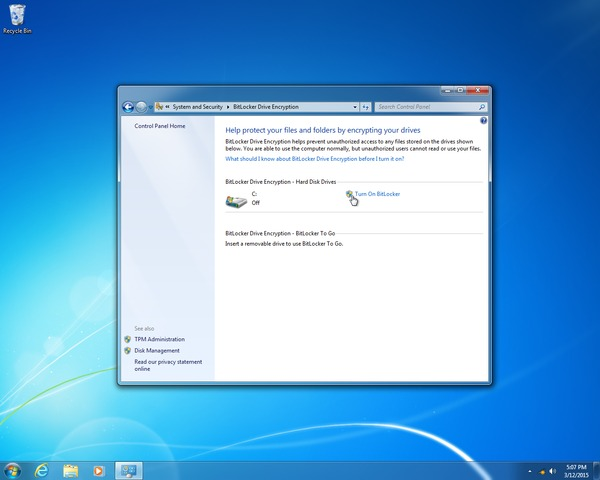 Installing and Configuring a TPM and BitLocker