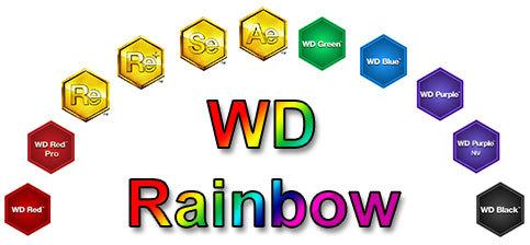 Western Digital WD Hard Drive Rainbow