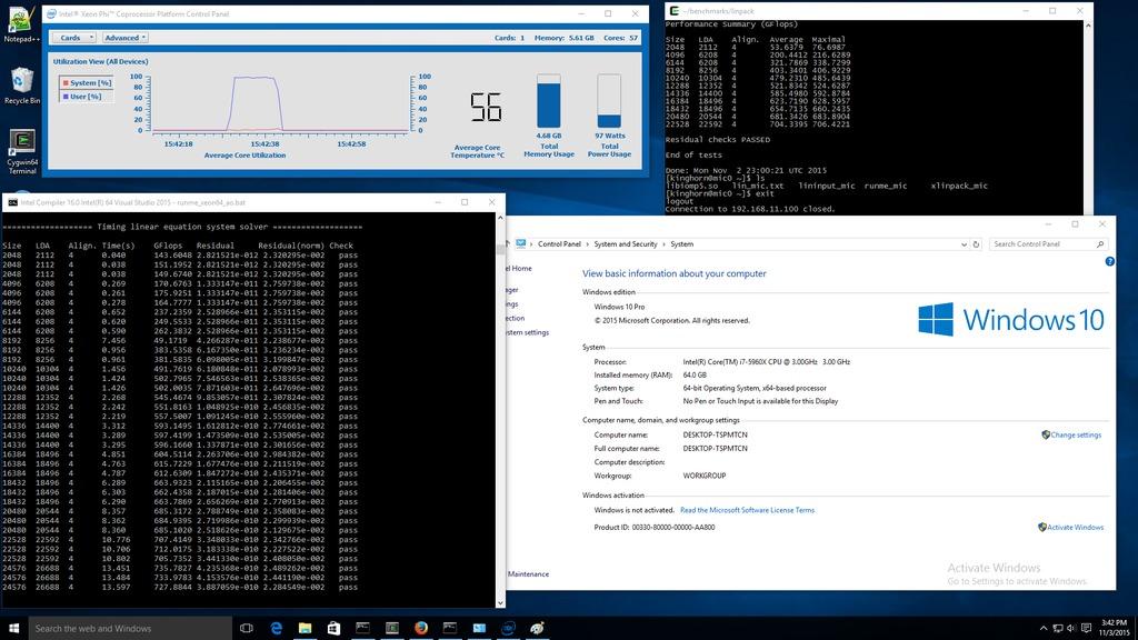 Windows 10 with Xeon Phi