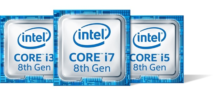 Intel 8th Gen Core i3, i5, i7