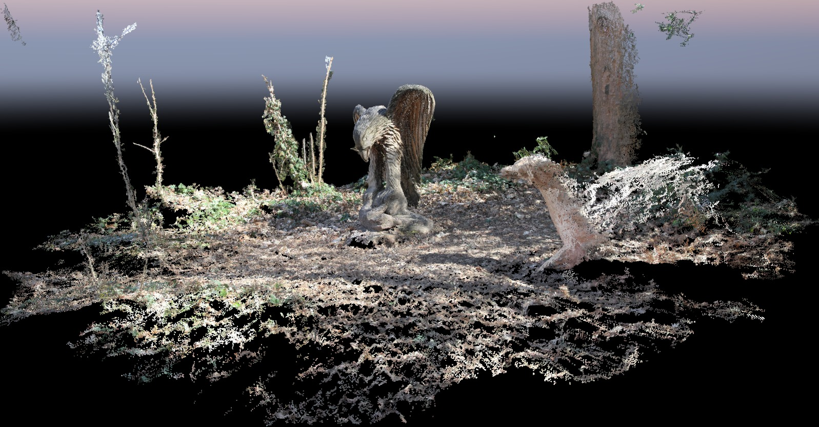Eagle Statue Photo Set Point Cloud