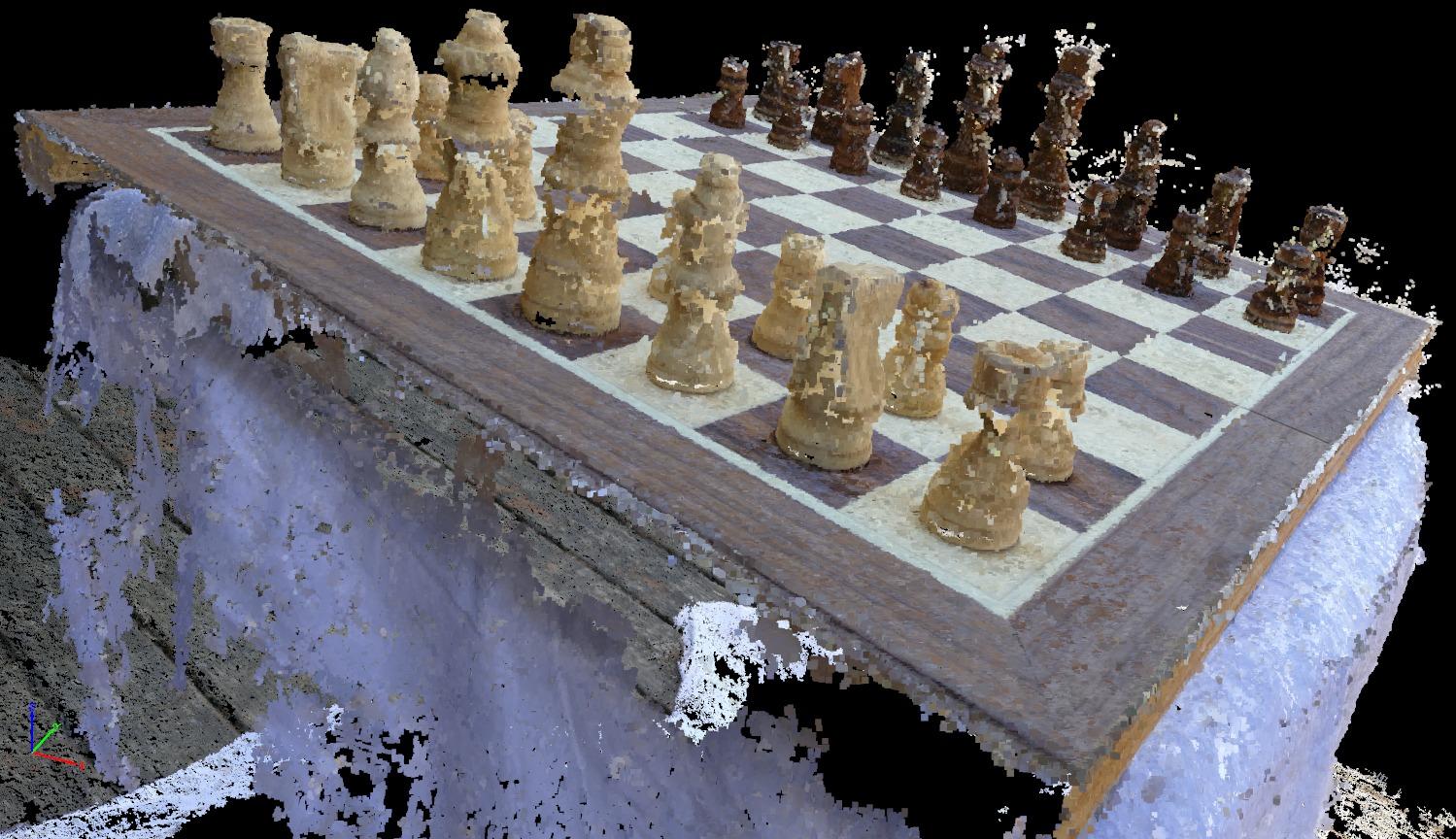 Chessboard Photo Set Point Cloud
