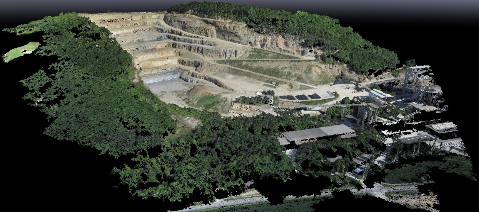 Quarry Photo Set Point Cloud