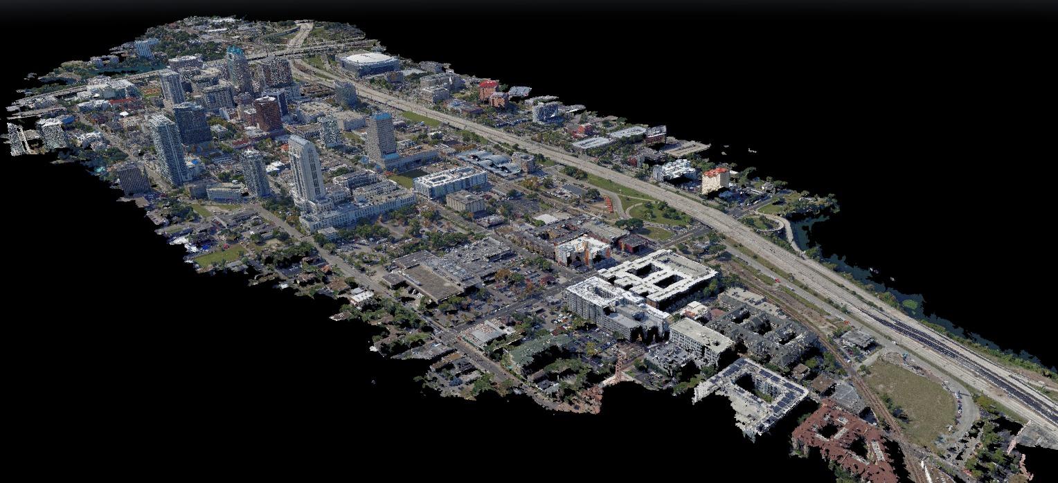 City Photo Set Point Cloud
