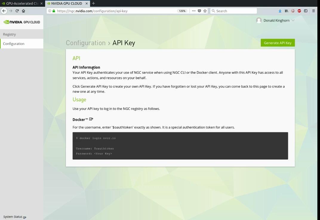 NGC-API-key-gen