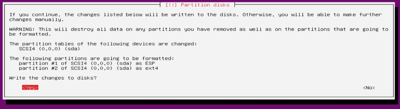 simple disk partitions